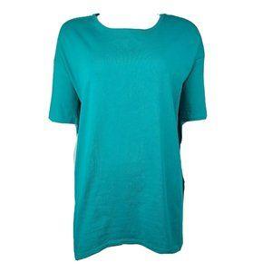 LULAROE Teal Blue/Green Irma Top Size XS